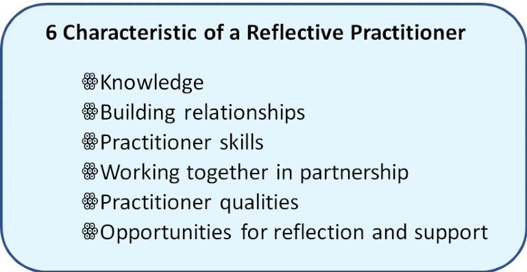 6 characteristics of a reflective practitioner